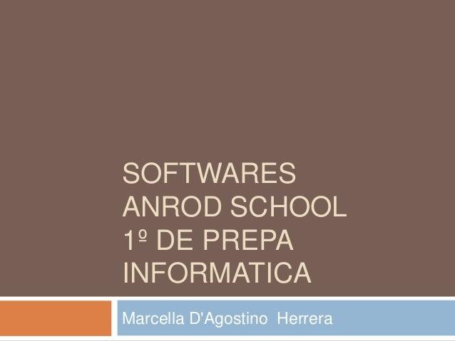 SOFTWARESANROD SCHOOL1º DE PREPAINFORMATICAMarcella DAgostino Herrera