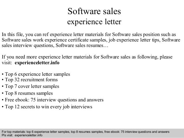 Interview Questions And Answers Free Download Pdf Ppt File Software Sales Experience Letter