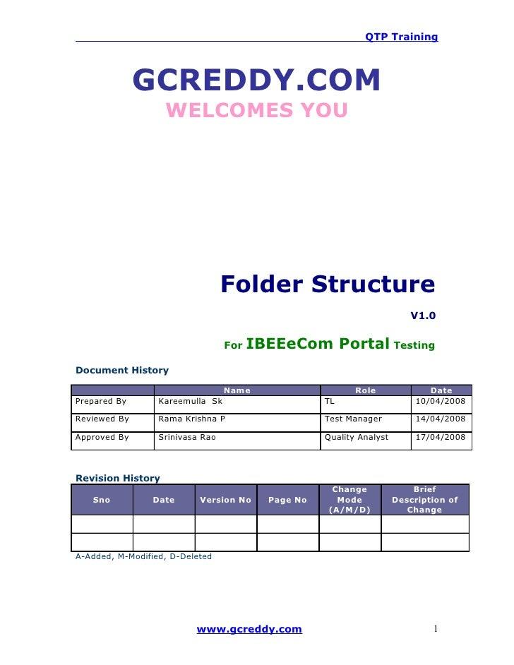 QTP Training                   GCREDDY.COM                    WELCOMES YOU                                       Folder St...
