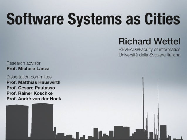 Software Systems as Cities