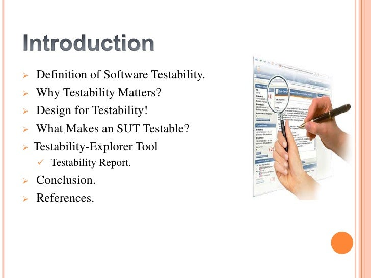 Software Testability Slide Share