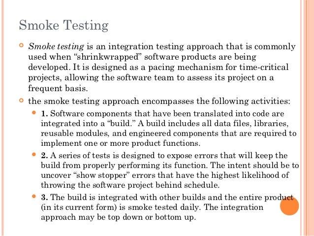 smoke testing in software engineering pdf