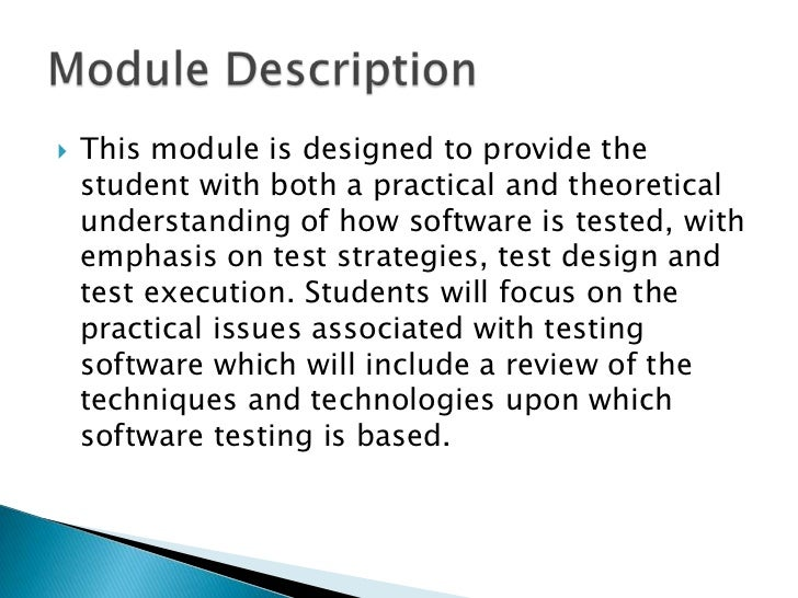 software testing and quality assurance lecture notes pdf