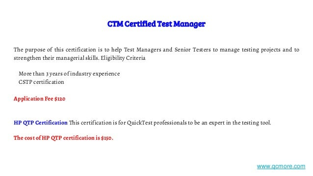 Software testing certifications