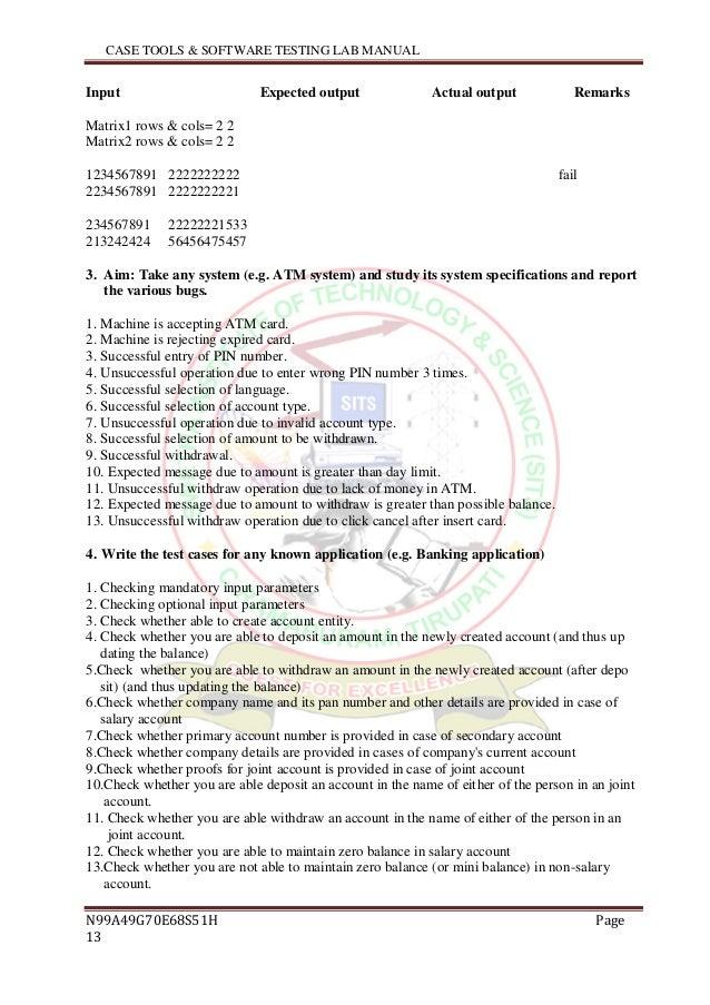 software testing lab manual rh slideshare net