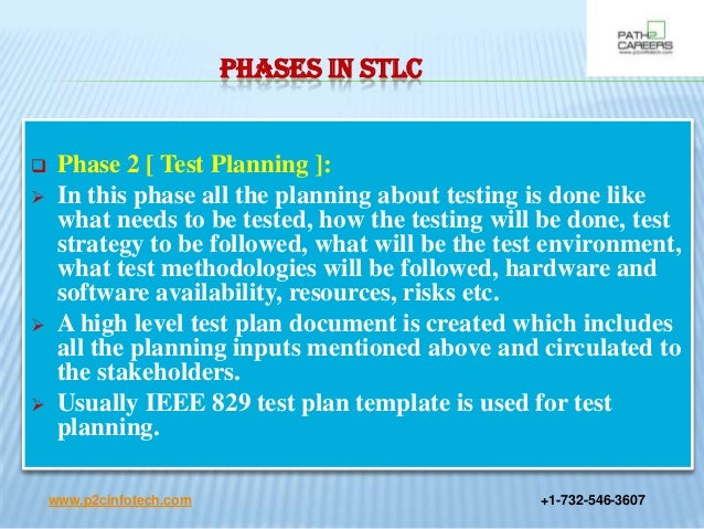 Software testing life cycle for Ieee 829 test strategy template