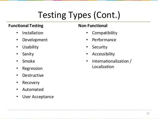 types of testing