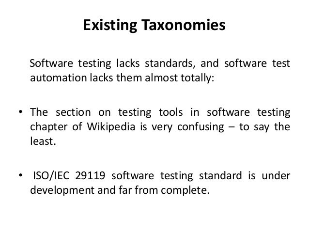 Software testing tools and its taxonomy