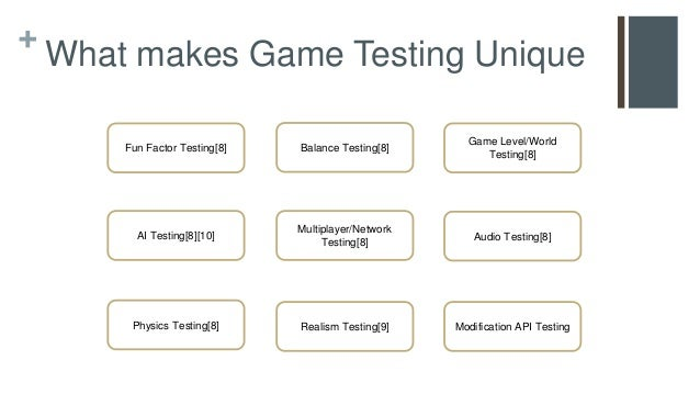 ... 5. + What Makes Game Testing ...