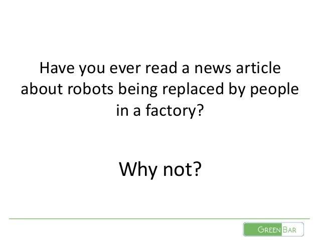 Software Tests and Robots Slide 2