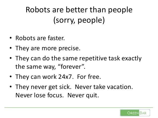 Software Tests and Robots Slide 3