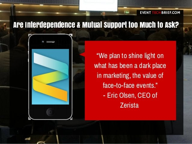 """Are Interdependence & Mutual Support too Much to Ask? EVENT BRIEF.COMTECH """"We plan to shine light on what has been a dark ..."""