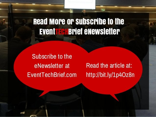 Read More or Subscribe to the Event Brief eNewsletterTECH Read the article at: http://bit.ly/1p4Oz8n Subscribe to the eNew...