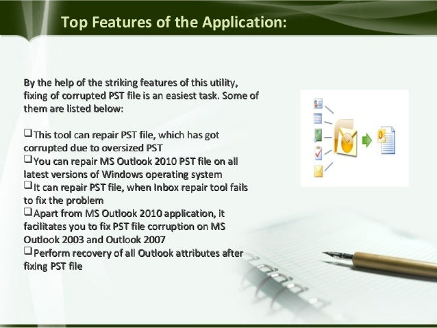 Software to Repair Corrupt Outlook 2010 PST File