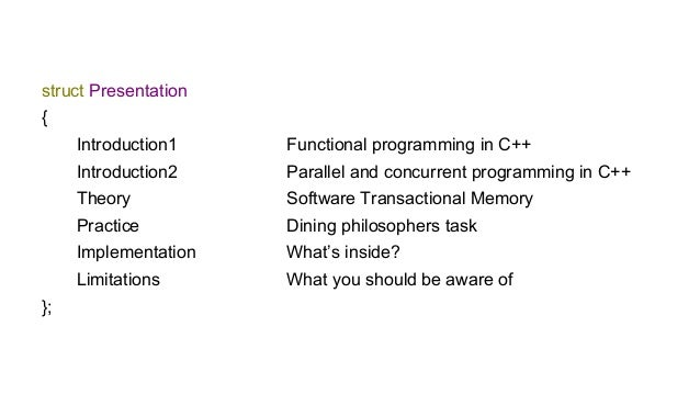 Software transactional memory. pure functional approach Slide 3