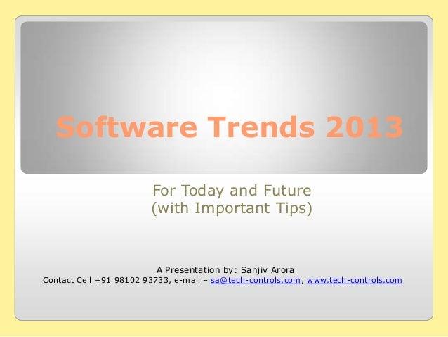 Software Trends 2013