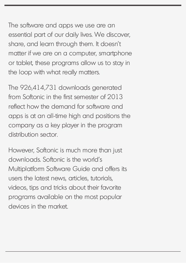 Softonic software trends q2 2013 gumiabroncs