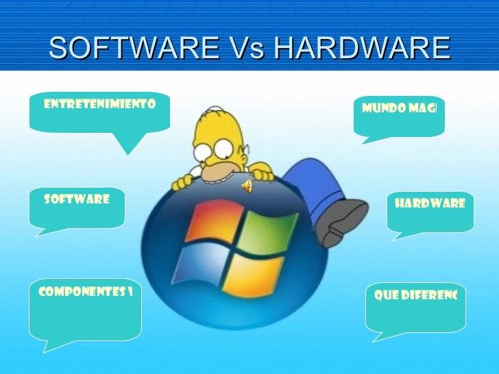 SOFTWARE Vs HARDWARE Mundo magico software hardware Componentes valiosos Que diferencia entretenimiento