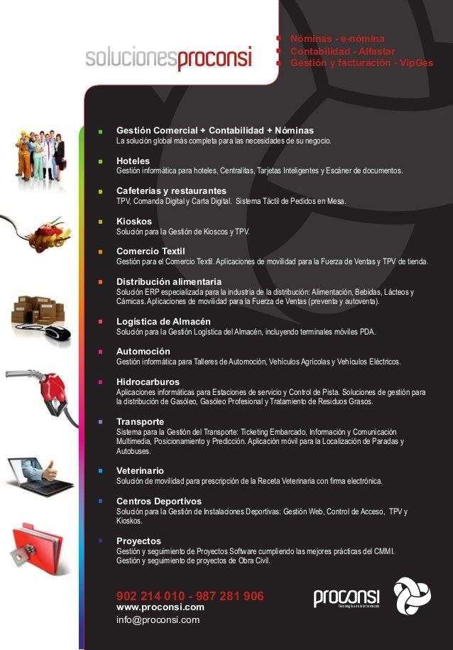 Software y sistemas ERP para empresas - Proconsi Slide 2
