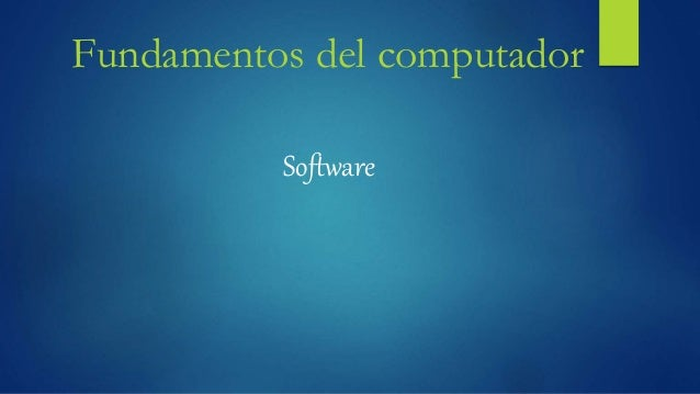 Fundamentos del computador Software