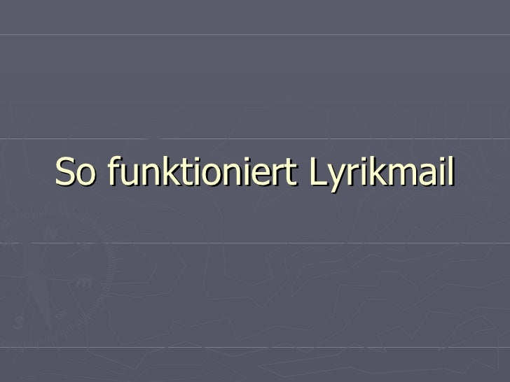 So funktioniert Lyrikmail