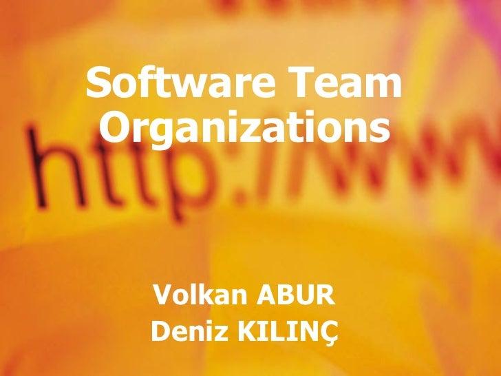Software Team Organizations Volkan ABUR Deniz KILINÇ