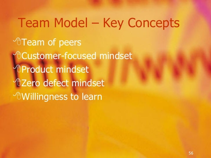 <ul><li>Team of peers </li></ul><ul><li>Customer-focused mindset </li></ul><ul><li>Product mindset </li></ul><ul><li>Zero ...