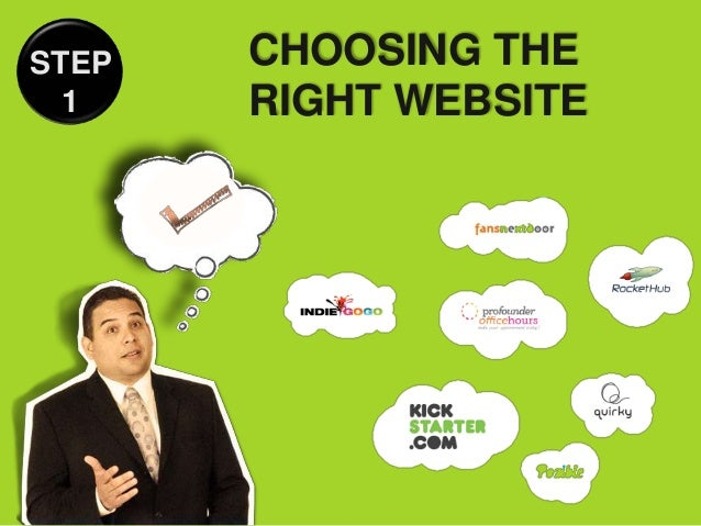STEP   CHOOSING THE  1    RIGHT WEBSITE