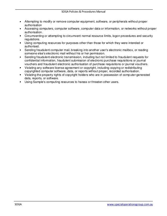 6 soga policies procedures manual