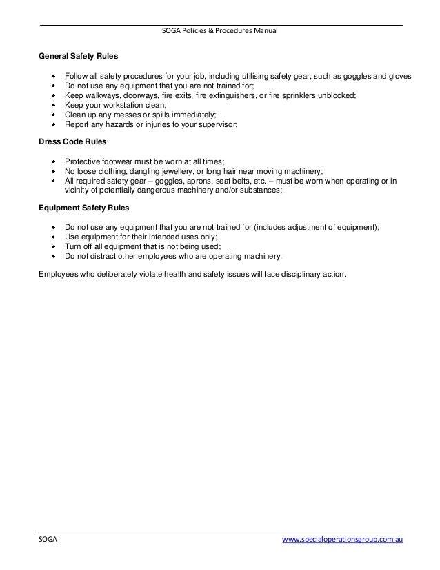 9 soga policies procedures manual