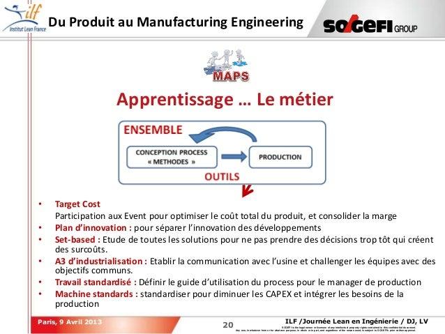 2020ILF /Journée Lean en Ingénierie / DJ, LVParis, 9 Avril 2013SOGEFI is the legal owner or licensee of any intellectual p...