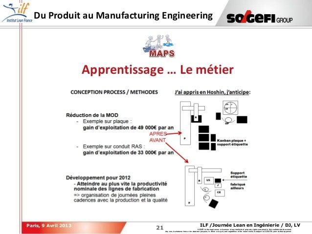 2121ILF /Journée Lean en Ingénierie / DJ, LVParis, 9 Avril 2013SOGEFI is the legal owner or licensee of any intellectual p...