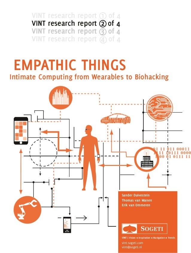 EMPATHIC THINGS Intimate Computing from Wearables to Biohacking Sander Duivestein Thomas van Manen Erik van Ommeren VINT |...