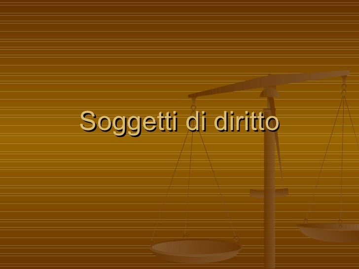 Soggetti di diritto