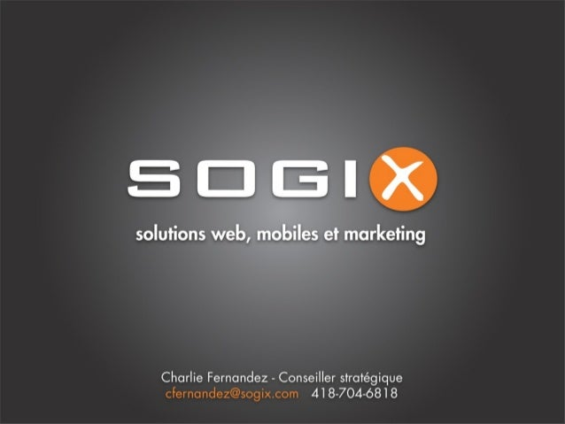 Sogix développement de solutions web mobiles et marketing