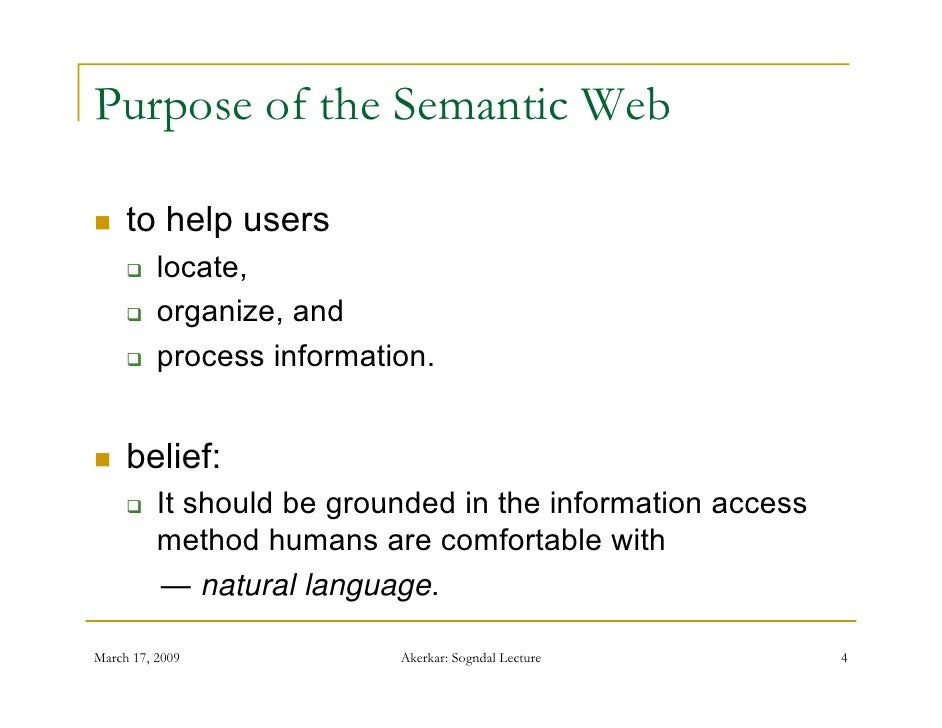 relationship between xbrl and the semantic web