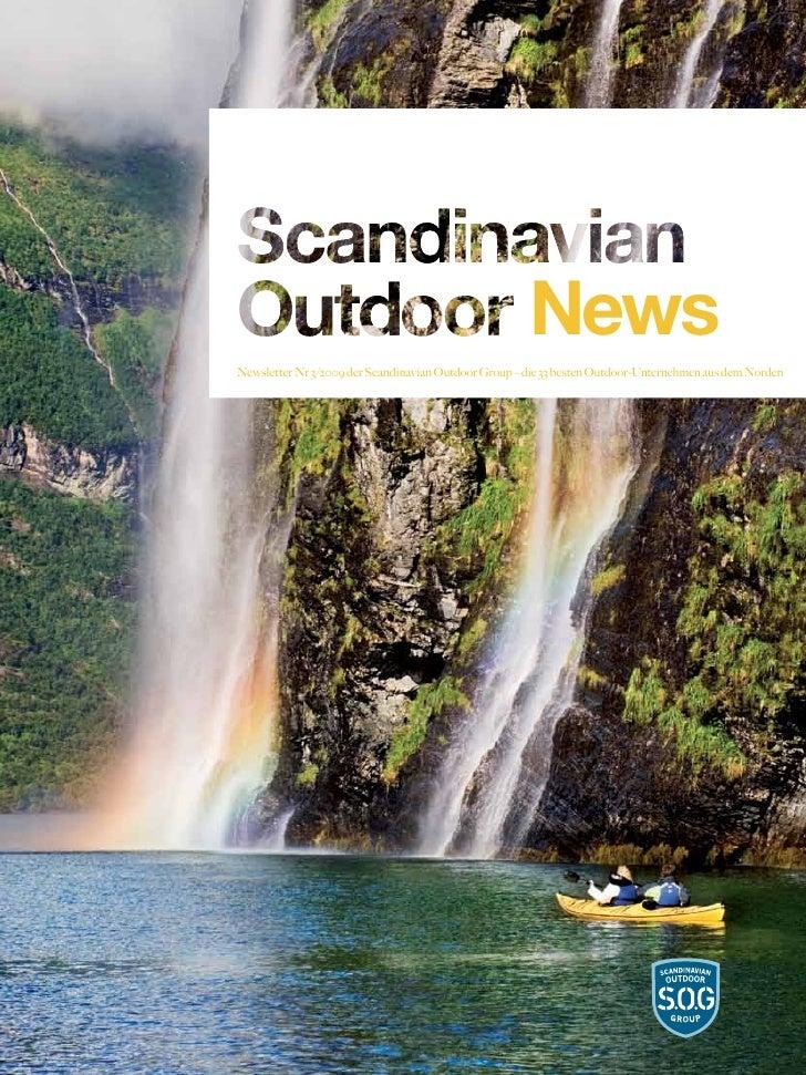 NewsNewsletter Nr 3/2009 der Scandinavian Outdoor Group – die 33 besten Outdoor-Unternehmen aus dem Norden