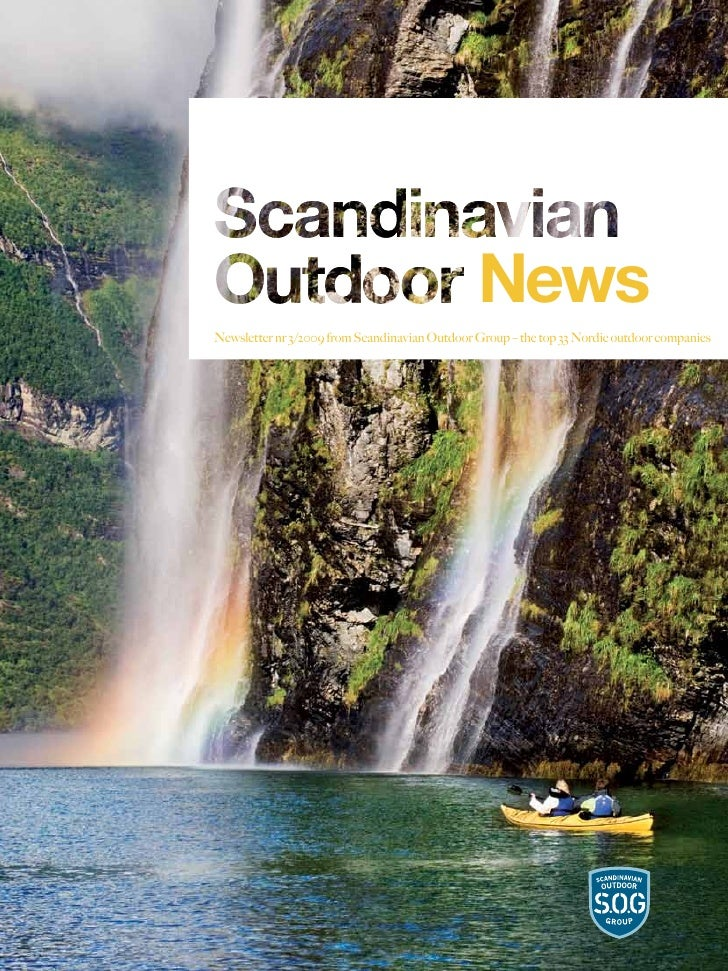NewsNewsletter nr 3/2009 from Scandinavian Outdoor Group – the top 33 Nordic outdoor companies