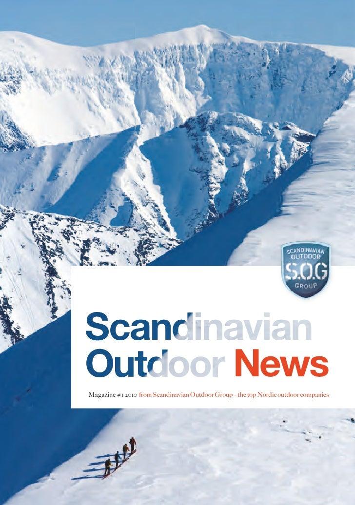NewsMagazine #1 2010 from Scandinavian Outdoor Group – the top Nordic outdoor companies