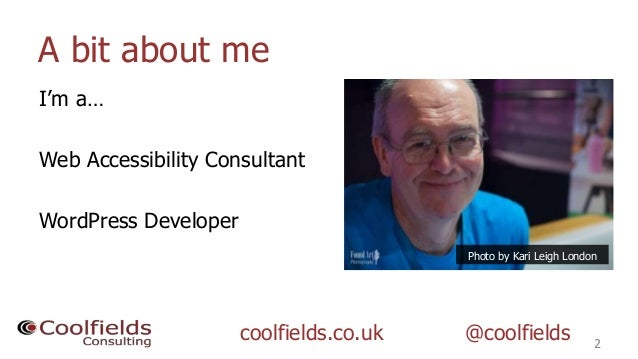 So how do i know if my wordpress website is accessible - WordPress Accessibility Day 2020 Slide 2