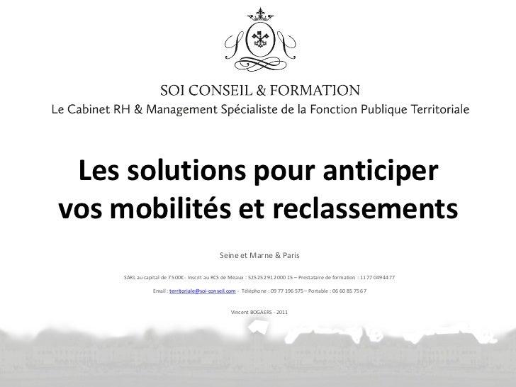 Les solutions pour anticipervos mobilités et reclassements                                            Seine et Marne & Par...