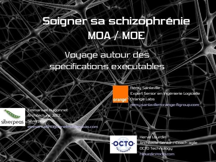 Soigner sa schizophrénie              MOA / MOE             Voyage autour des          spécifications exécutables         ...