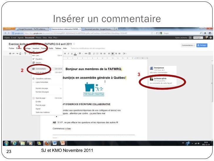 Insérer un commentaire SJ et KMO Novembre 2011  1 2 3