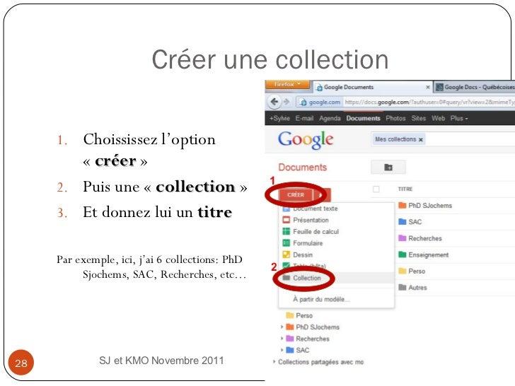 Créer une collection <ul><li>Choississez l'option « créer »  </li></ul><ul><li>Puis une « collection »  </li></ul><ul>...