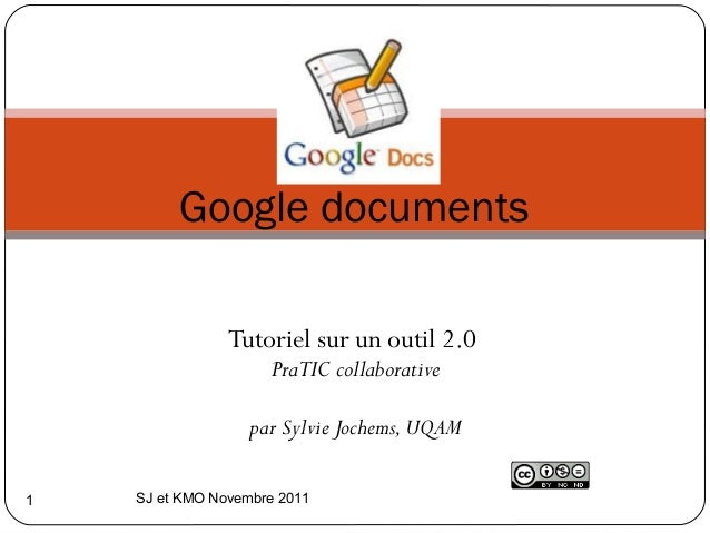 Google documents                Tutoriel sur un outil 2.0                     PraTIC collaborative                        ...
