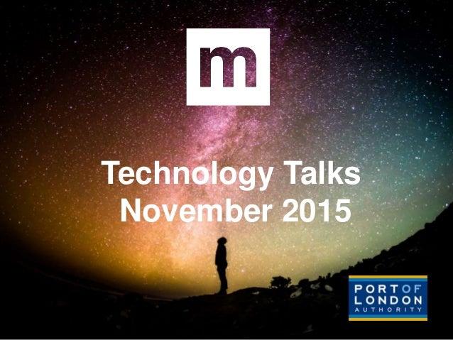 Technology Talks November 2015