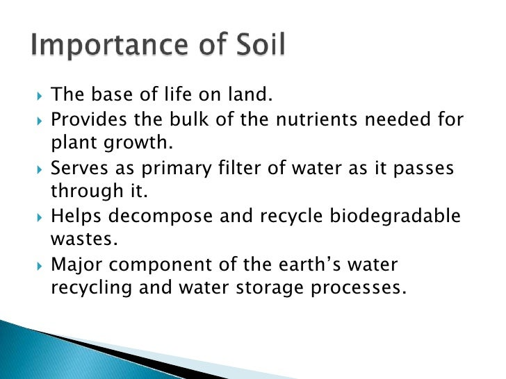 Soil for Importance of soil minerals