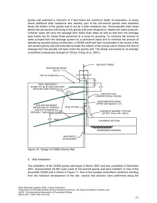 Gravity Wall Design 4 Optimum Design Of Semi Gravity Retaining