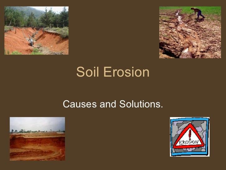 term paper soil erosion Environmental effects of erosion • during the 1970s and 1980s soil erosion became an issue due to its vulnerable to erosion • the long-term effect of this.