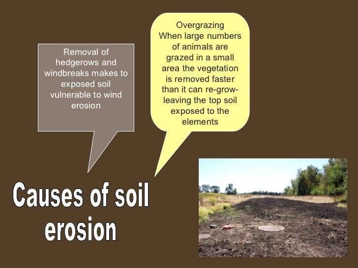 Soil erosion for 5 uses of soil
